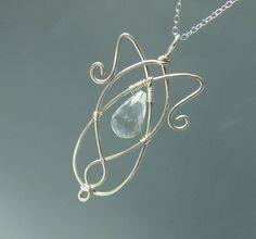 Elven princess silver necklace silver fairy pendant by VeraNasfa - airy