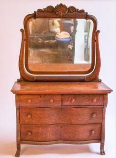 Harrington Galleries - Vintage Oak Dresser with Attached Mirror, $650.00 (http://webstore.harringtongalleries.com/vintage-oak-dresser-with-attached-mirror/)
