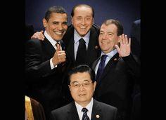 Obama,Medvedev,Italian President,Hu Jin Tao