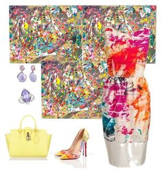 """""""Pollock Inspired🎨"""" by parnett ❤ liked on Polyvore featuring Patrizia Pepe and Phillip Gavriel"""