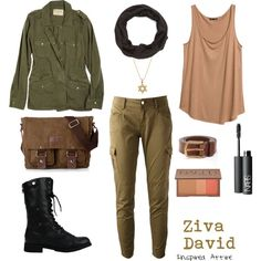 Ziva David by inspiredattire on Polyvore featuring polyvore, fashion, style, H&M, Velvet, Twin-Set, Jennifer Meyer Jewelry, Charlotte Russe, Urban Decay and NARS Cosmetics