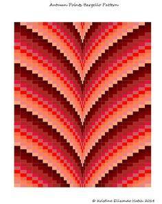 Autumn Points Bargello Quilt Pattern & Tutorial Lap size and Motifs Bargello, Broderie Bargello, Bargello Quilt Patterns, Bargello Needlepoint, Bargello Quilts, Quilt Patterns Free, Tapestry Crochet Patterns, Quilting Tutorials, Quilting Designs