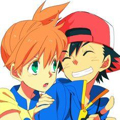 Ash x Misty Fanart #Pokemon