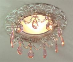 Recessed Lighting from Beaux-Artes, Model: Florentine Recessed Chandelier Shabby Chic Français, Muebles Shabby Chic, Estilo Shabby Chic, Shabby Chic Kitchen, Shabby Cottage, Shabby Chic Furniture, Cottage Chic, Diy Chandelier, Chandeliers