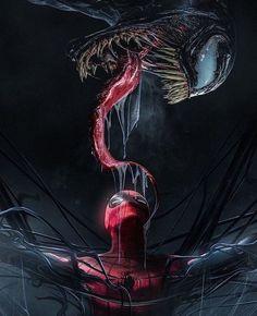 Spiderman And Venom Wallpaper Spider Man Vs Venom, Spiderman Venom, Spiderman Kunst, Marvel Venom, Nebula Marvel, Spiderman Drawing, Batman, Marvel Avengers, Marvel Comics