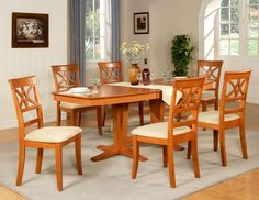 7pc dining table and cream parson chairs set in deep cappuccino