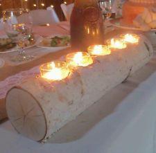 white birch candle holder