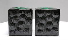 Mid Century pair of glass bookends by Blenko modern vintage
