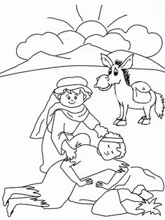 scene from the parable of the good samaritan coloring page online coloring - The Good Samaritan Coloring Pages