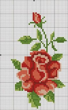 Ideas embroidery designs floral free pattern for 2019 Cross Stitch Love, Cross Stitch Flowers, Cross Stitch Charts, Cross Stitch Designs, Cross Stitch Patterns, Cross Stitching, Cross Stitch Embroidery, Embroidery Patterns, Funny Embroidery