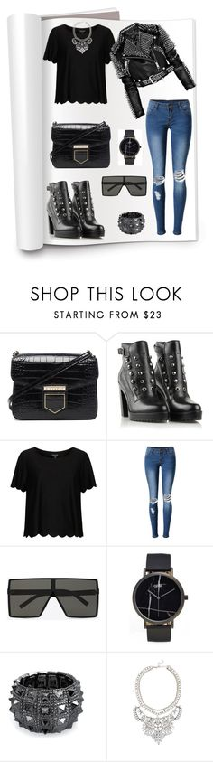 """""""Untitled #692"""" by rockinstyles ❤ liked on Polyvore featuring Givenchy, Diesel, Topshop, WithChic, Yves Saint Laurent, CLUSE, Bling Jewelry and Eye Candy"""