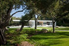 The Glass Pavilion and trees