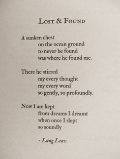 Lost & Found #poems #quotes #love