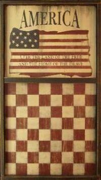 America Wood Checker Board