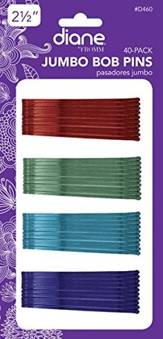 "Diane 2.5"" Jumbo Bob Pins, Assorted Colors, 40/card Diane http://www.amazon.com/dp/B0048ZKELI/ref=cm_sw_r_pi_dp_nuWJub0GSWDYF =5$"