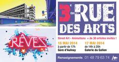 Festival Rue des Arts. Du 16 au 17 mai 2014 à Aulnay-sous-Bois.