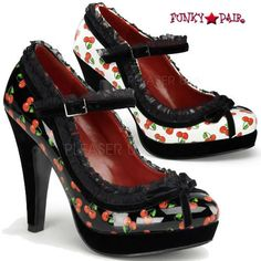 4.5 Inch Heel Mary Jane Platform with Lace Trim $57.95