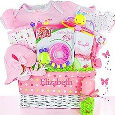 Woof woof welcome wagon boy or girl from baby gifts and gift personalized garden friends baby gift basket negle Image collections
