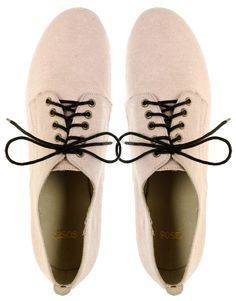 ASOS MUCHAS Lightweight Canvas Lace Up Flat Shoe