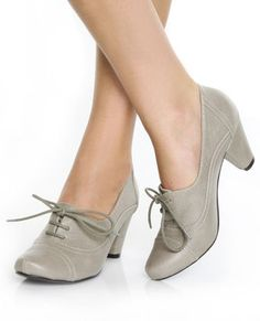 grey heeled oxfords