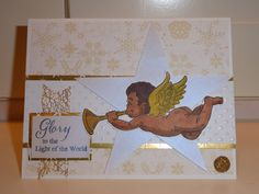 African American angel cherub Christian Christmas Greeting Card by PlaysNicelyWithPaper on Etsy