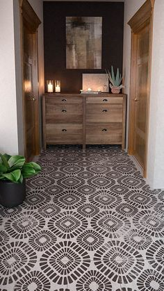 Large Reusable Stencils- Wall Stencils For Painting- Floor Stencils Large Home painted floor tiles Painting Tile Floors, Stencil Painting On Walls, Painted Floors, Large Painting, Painted Floor Tiles, Tile Stencils, Painted Kitchen Floors, Stenciling Walls, Stencil Decor
