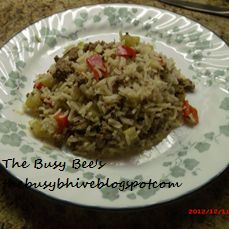 The Busy Bees: Hamburger & Rice Casserole