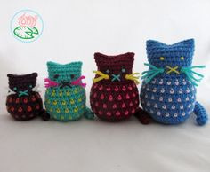 Looking for your next project? You're going to love Amigurumi Cats by designer Tamara L..