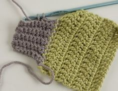 How to crochet ribbing. Great for cuffs or hat bands.