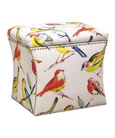 Another great find on #zulily! Birdwatcher Summer Storage Ottoman #zulilyfinds