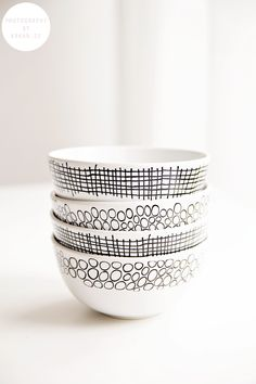 could be easy to DIY with sharpie & white bowls
