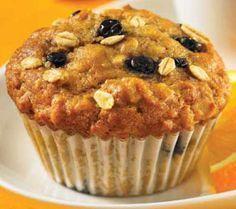 Muffins à l'avoine, aux bleuets et graines de lin