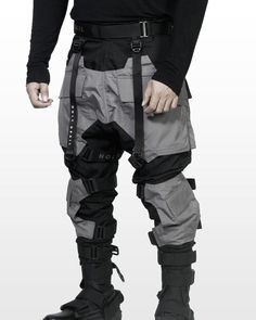 Material : Cotton Ribstop Mix Taslan Grey Model Wearing Size ' L' Model Weight/Height : Available Size : Cyberpunk Clothes, Cyberpunk Fashion, Cyberpunk Rpg, Best Mens Fashion, Look Fashion, Lolita Fashion, Fashion Styles, Fashion Boots, Fashion Dresses