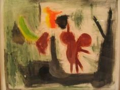 "A mixed media Robert D. Kauffmann expressionist abstract on paper, signed lower right in pencil, with pencil notations (verso) from IFA Galleries, Washington D.C., custom matted and framed. CIRCA: 1950's DIMENSIONS: 33"" h x 34 3/4"" w PRICE: $3,750"