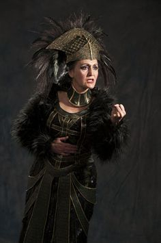 Jacqueline Antaramian as Tamora in Utah Shakespeare Festival's 2012 Titus Andronicus.