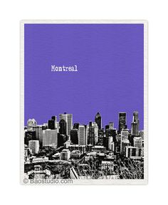 Montreal Canada Art Print   World Traveler Series Pop by PineShore, $16.00