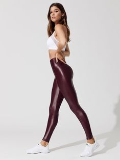 Yoga Pants Fitness Pants Ace Personal Trainer In Shape Gym Online Pers – ooklyy Shiny Leggings, Women's Leggings, Girls In Leggings, Sports Leggings, Printed Leggings, In Shape Gym, Look Girl, Elegantes Outfit, Leggings Fashion