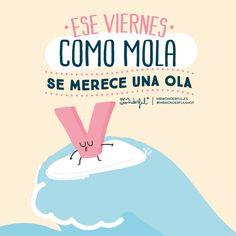 ¡Buenos días! Vamos que el viernes es un gran día y se merece una oooola enorme :). #FelizViernes #disfrutadelavida
