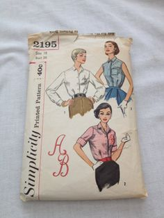 1950's Simplicity 2195 Free US Shipping Size 18 by Madelinescrafts, $12.00