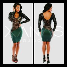 The Mesh Bodycon Long Sleeve Dress is an amazing dress. This is one of our hot picks - One that will have you feeling like a goddess  http://ift.tt/1Jl3xCR  #xanasboutique #bodycondress #meshdress #longsleeve #bodycon #winternights #lfw #ootd #europefashion #fashionismo