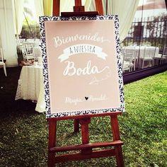Pizarras para decorar la Bienvenida de tus invitados   #bodascreativas #detallesbodas #pizarras #bodas