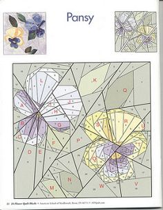 24 flower quilt blocks 22