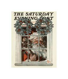Santa Behind Window, c.1919  by Joseph Christian Leyendecker