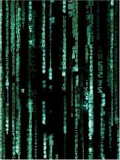 The Matrix. Digital Rain, Matrix code, green rain. the green code is a way of representing the activity of the virtual reality environment of the matrix on screen (IMDB,  March, 2008)