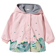 Keep your little girlprotectedin all weather this season with this pretty pink flower print raincoat from Catimini. Fully waterp