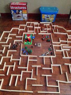 Maze Runner with Keva Planks & Lego Diy For Kids, Crafts For Kids, Reggio Inspired Classrooms, Maze Game, Math Challenge, Force And Motion, Indoor Activities For Kids, Toy Craft, Kids Corner