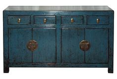 Four-Door Blue Buffet on OneKingsLane.com.   I just love this piece!