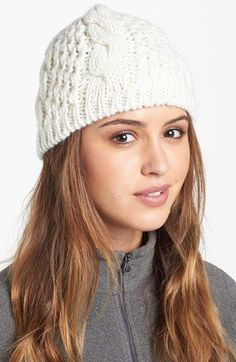 The North Face  Minna  Cable Knit Beanie available at  Nordstrom 64fb7252b90e
