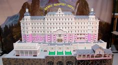 The Grand Budapest Hotel Made Entirely From LEGO. This masterpiece is constructed from over 50,000 LEGO bricks and took more than 575 hours to complete