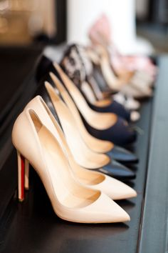 Every girl needs a pair of black and nude pumps - classic elegance